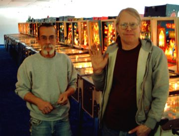 "<i>Tim (right) with PHOF <br>right hand man, Mike ""Hippy"" Clark.<i/>"